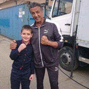 celebztreasure Dobromir Mashukov and Sylvester stallone