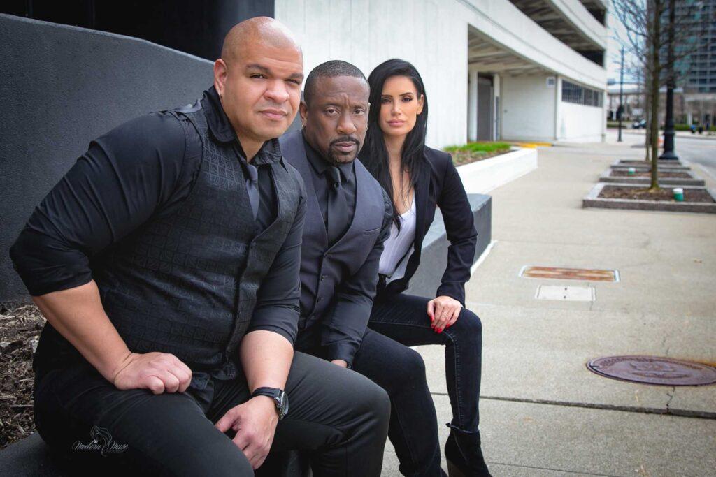 The Owners: Jose Byers ( left), Derek Talib ( middle), Rebekah Hart Franklin ( right)
